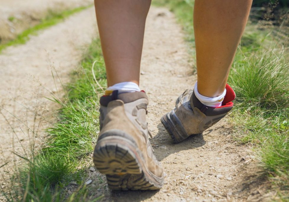 Missteps about to produce ankle injury to a hiker